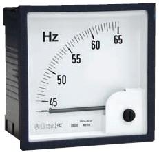 Zeigerfrequenzmesser, 72x72 45-55Hz
