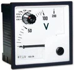 Voltmeter mit Umschalter, 96x96